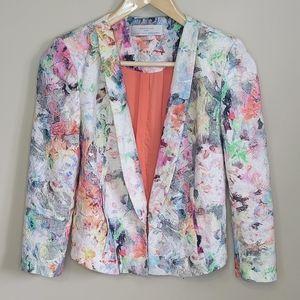 Zara Trafaluc Floral Embossed Blazer Size 5